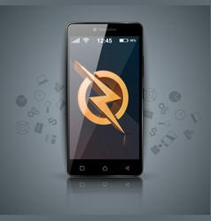 digital gadget smartphone lighnning tablet icon vector image