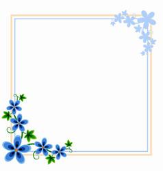Flower corner border vector