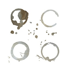 Four tea cups traces vector