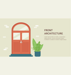 front architecture banner for architectural agency vector image