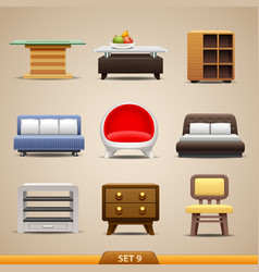 Furniture icons-set 9 vector