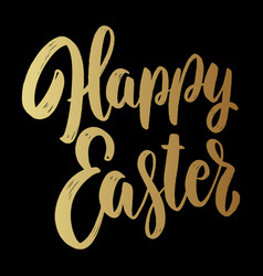 Happy easter text lettering phrase for easter vector
