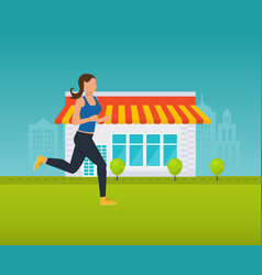 healthy lifestyle athletics running outside vector image