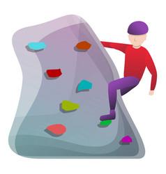 Indoor wall climbing icon cartoon style vector