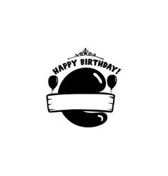 initial birthday c letter happy birthday monogram vector image