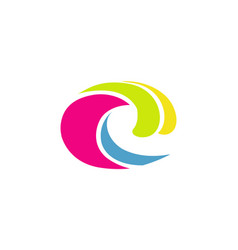 ink wave symbol logo vector image