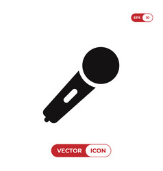 Karaoke microphone icon vector