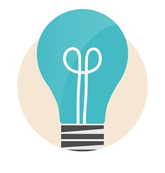 Light bulb Modern Flat design concept vector
