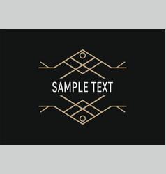 line art decoration geometric frames logo vector image