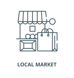 Local market line icon linear concept vector