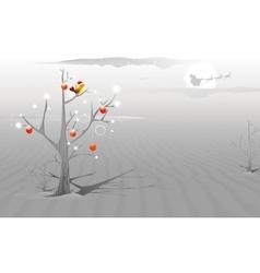 Love Bird in Christmas night vector image