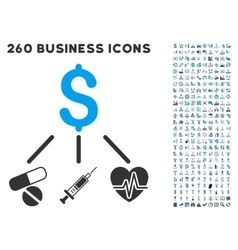 Medical Budget Icon with Flat Set vector
