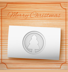 merry christmas invitation template vector image vector image
