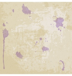 Old paper texture with blots vector image