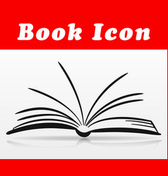 open book icon design vector image