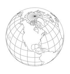 Globe map outline vector images over 1700 outline earth globe with map of world focused on vector gumiabroncs Gallery