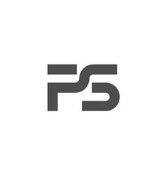 P s letter logo lettermark ps monogram typeface vector