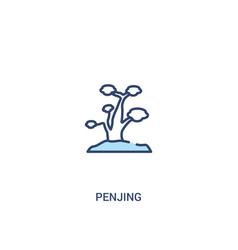 Penjing concept 2 colored icon simple line vector