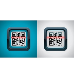 qr code scanner icon vector image