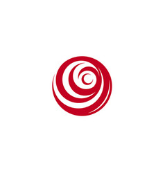 red abstract rose logo template on white vector image