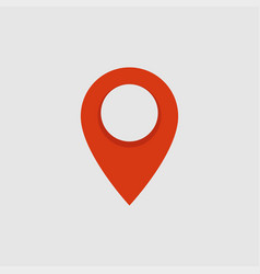 red location pin map pointer icon vector image