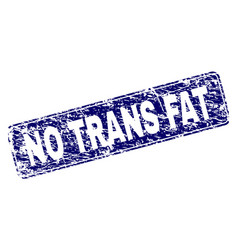 Scratched no trans fat framed rounded rectangle vector