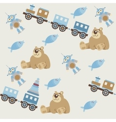 Seamless pattern of baby toys2 vector image
