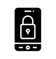 Security app icon mobile application vector