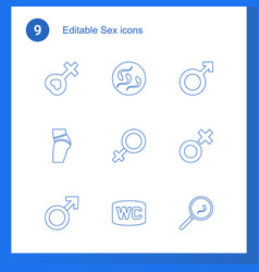 sex icons vector image