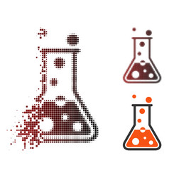 Shredded pixel halftone boiling liquid icon vector