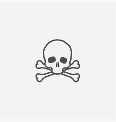 simple skull icon vector image