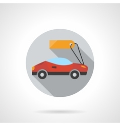 Sports car rental round flat color icon vector image