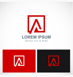 square letter a icon logo vector image
