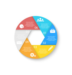 Template for circle diagram options web design vector