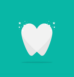 tooth logo clean with shadow dental clinic vector image