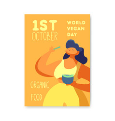 vegan day poster banner flyer world vegetarian vector image