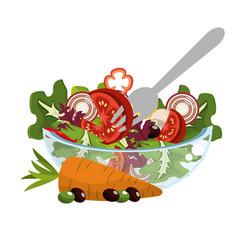 Vegetable healthy diet vector