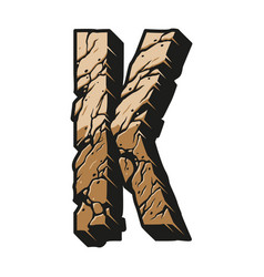 Vintage letter k desert design template vector