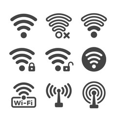 wifi icon vector image