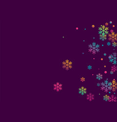 winter snowflakes and circles border vector image