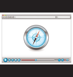 internet web browser concept vector image