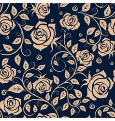 Medieval seamless pattern with roses vector image vector image