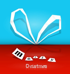 Retro Merry Christmas Background - Blue and Red vector image vector image
