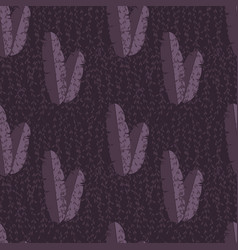 Seamless pattern with jungle palm leaves on vector