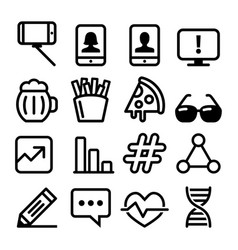 Web line icons website falt design icons vector