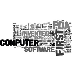 Basic technology history text word cloud concept vector