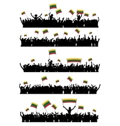 Cheering or Protesting Crowd Lithuania vector image vector image