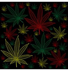 Marijuana-Cannabis-background vector image