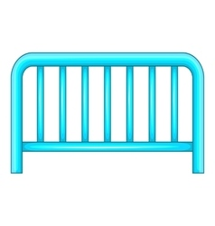 Metal fence icon cartoon style vector image