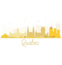 quebec city skyline golden silhouette vector image vector image